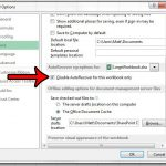 disable autorecover for an individual excel 2013 workbook