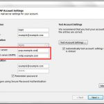 fix server settings in Outlook 2013