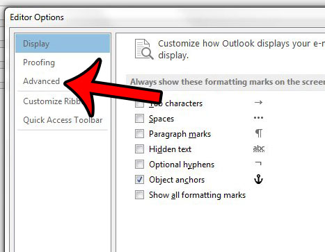 follow link in outlook 2013 no ctrl key
