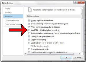 How to Click an Outlook 2013 Hyperlink Without Holding Ctrl