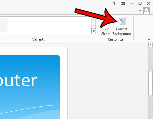 hide powerpoint graphics in powerpoint 2013 - step 3