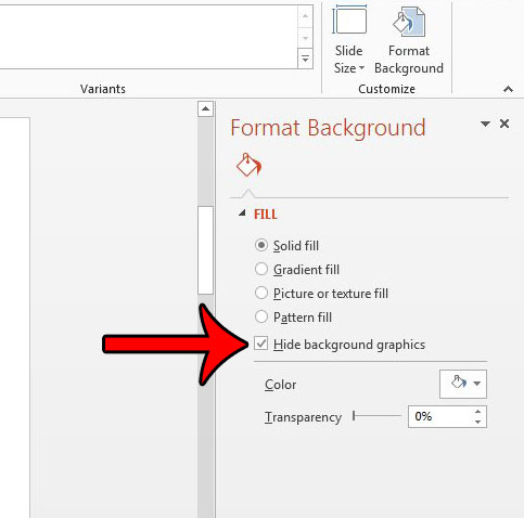 hiding background pictures in powerpoint 2013 - step 4