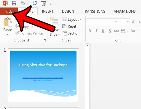 powerpoint 2013 remove popup toolbar - step 1