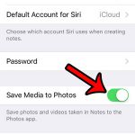 save notes media to photos app - step 3