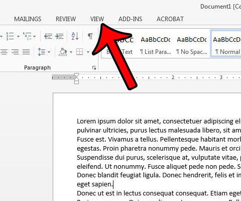 make word 2013 document bigger on screen