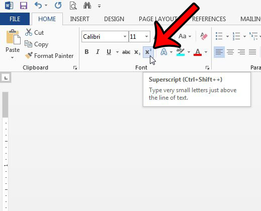 how to clear superscript in microsoft word - step 3
