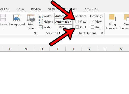 how to hide gridlines on screen and when printing in excel 2013