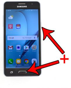 how to take a screenshot with the Samsung Galaxy ON5