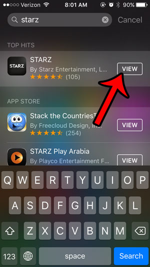 how to find an app on my iphone