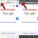 how to tell if you are in private browsing on an iphone