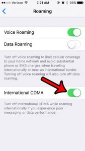 what is international cdma on the iPhone