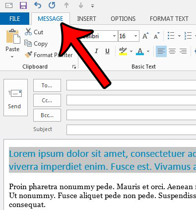 how to remove formatting in outlook 2013