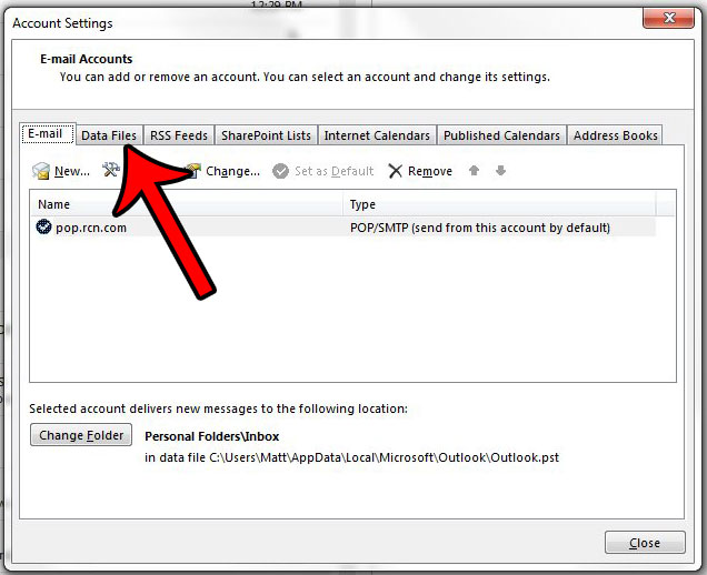 where is my pst file for outlook 2013