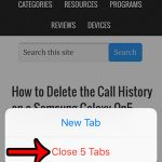 close all safari tabs at once on an iphone 5