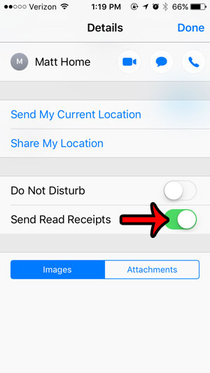 how to change read receipts for individual contacts on an iphone