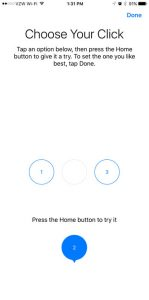 change the home button click on the iphone 7