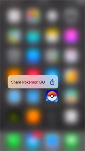share an iphone app with long press