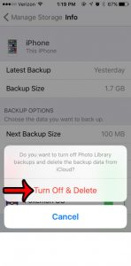 how to remove pictures from iPhone backup
