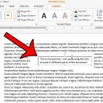 how to insert a text box in word 2013