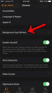 how to turn off background app refresh on the iphone 7