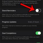 turn off stand reminders on the apple watch