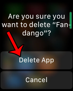 how to delete an app on the apple watch