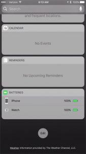 how to add the battery widget on the iphone 7