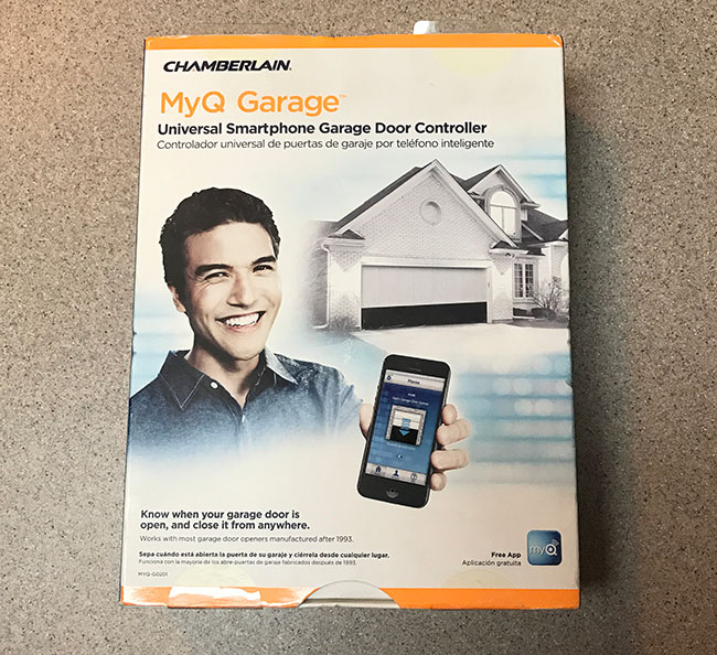 myq garage in package