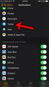How to Turn Off Twitter Notifications on the Apple Watch