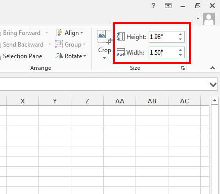 resize a picture to exact dimensions in excel 2013