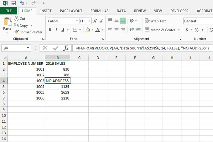 using a custom text string as an error message in excel 2013