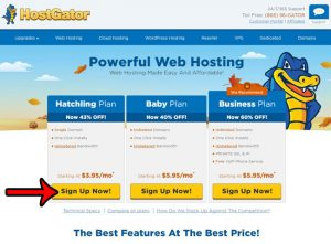 how to sign up for web hosting with hostgator