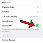how to enable reachability on the iphone 7