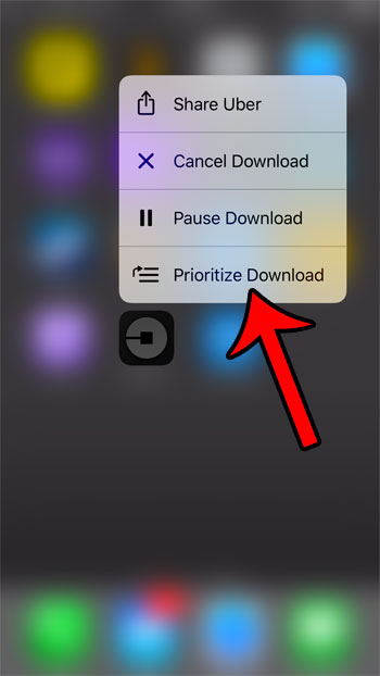 how to prioritize an app update on an iphone 7