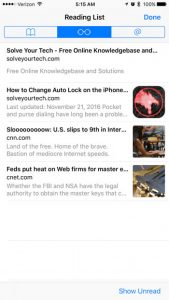 How to Use the Reading List in Safari on Your iPhone 7