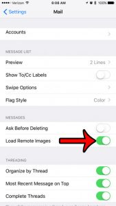 How to View Pictures in Emails on Your iPhone 7