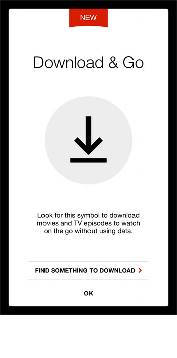 how to download a tv show episode in the iPhone netflix app