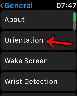 select the orientation option