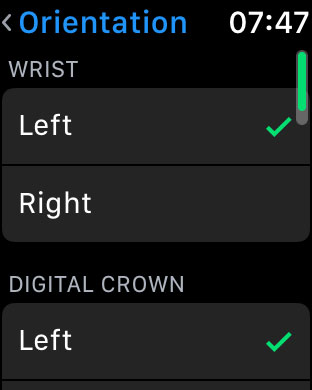 how to change the apple watch face orientation directly on the watch