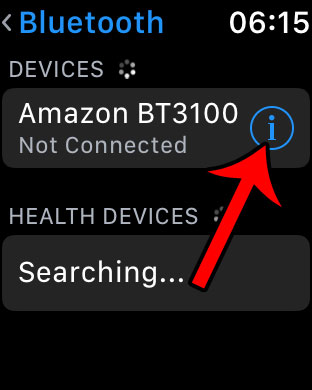 tpa the i next to the bluetooth device to delete