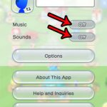 how to turn off music and sound in super mario run