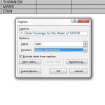 how to insert a table caption in word 2013