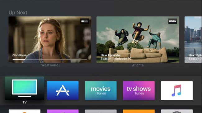 there is no spotify or amazon prime app for the apple tv