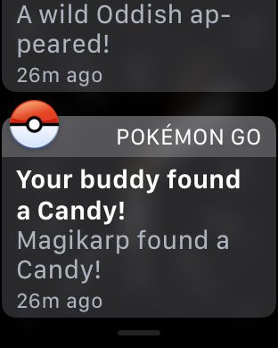 tap and hold on a notification