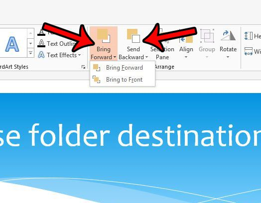 how to change layers in powerpoint 2013