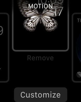 how to remove a watch face from the apple watch