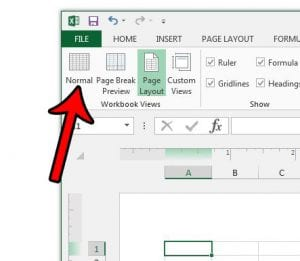 how to change the view setting for all excel worksheets at once