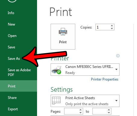 How To Save Excel As Pdf >> How To Save A Spreadsheet As A One Page Pdf In Excel 2013