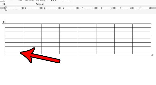 how to insert a row in a table in word 2013