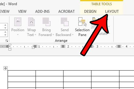 how to add rows to a word 2013 table